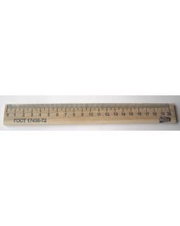 Лінійка 20 см, дерев'яна