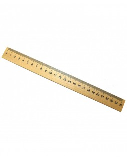 Лінійка 25 см, дерев'яна
