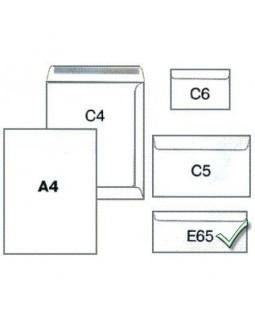 Конверт білий з клейким шаром 110 х 220 см, DL (E65)