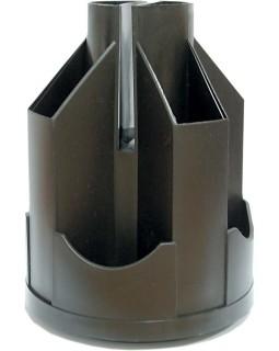 Підставка настільна карусель Economix, обертається на 360°, пластикова, чорна