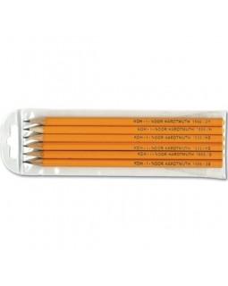 Олівець графітний 2Н-2В, 6 шт.