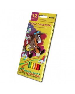 Олівці 12 кольорів «Пегашка» ТМ Marco