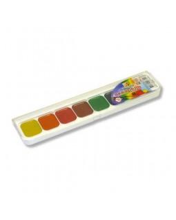 Фарби акварельні медові 8 кольорів, без пензля, пластик «Класика» ТМ Луч, 19С1284-08