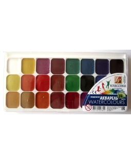 Фарби акварельні медові 24 кольорів, без пензля, пластик «Класика» ТМ Луч, 19С1294-08