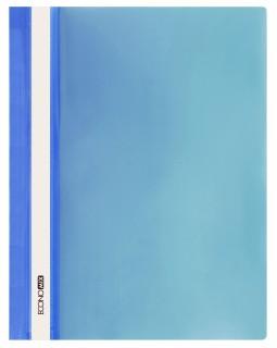 Папка - швидкозшивач з прозорим верхом А4 без перфорації, синя.