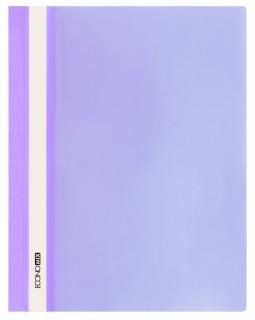 Папка - швидкозшивач з прозорим верхом А4 без перфорації, фіолетова.