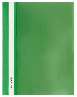 Папка - швидкозшивач з прозорим верхом А4 без перфорації, зелена.