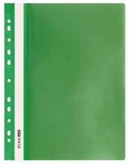 Папка - швидкозшивач з прозорим верхом А4 з перфорацією, зелена.