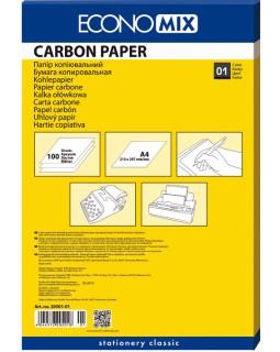 Папір копіювальний 210 х 320 мм, 100 арк., чорний