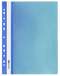 Папка - швидкозшивач з прозорим верхом А4 з перфорацією, синя.