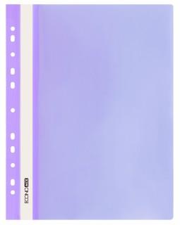 Папка - швидкозшивач з прозорим верхом А4 з перфорацією, фіолетова.