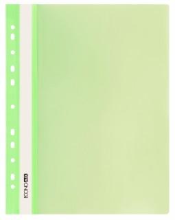 Папка - швидкозшивач з прозорим верхом А4 з перфорацією, салатова.