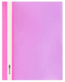Папка - швидкозшивач з прозорим верхом А4 без перфорації, рожева.