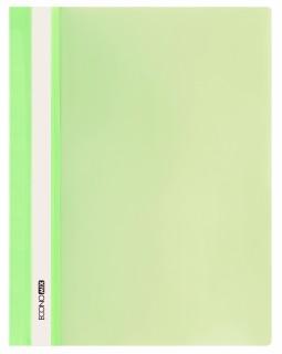 Папка - швидкозшивач з прозорим верхом А4 без перфорації, салатова.