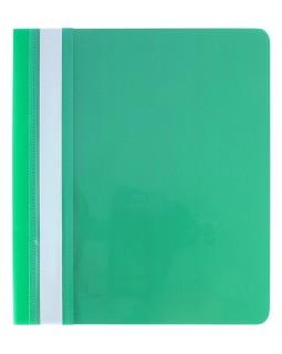 Папка - швидкозшивач з прозорим верхом А5 без перфорації, зелена.