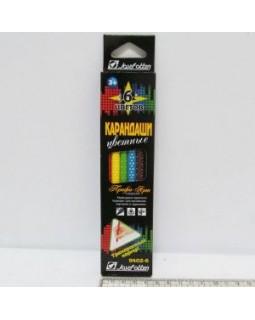 Олівці 6 кольорів «Профі-Арт» в картонній упаковці