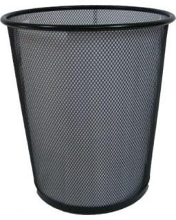 Корзина металева, кругла, середня 22х26,5х28 см, чорна 5002-B Leader