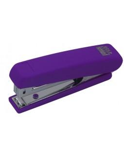 Степлер пластиковий до 12 арк., скоба № 10 «RUBBER TOUCH» фіолетовий.
