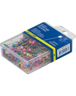 Шпильки кольорові 34 мм, 200 шт. у пластиковому контейнері, ТМ Buromax