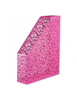 Лоток вертикальний, металевий на 1 відділення «Barocco» 338 х 248 х 70 мм, рожевий.