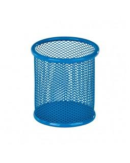 Підставка для ручок кругла 90 х 90 х 100 мм, металева, синя.