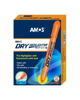 Маркер текстовий, сухий, флуорисцентний, помаранчевий, ТМ Amos