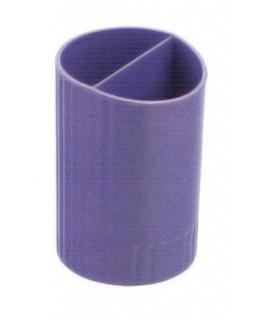 Підставка для ручок кругла на два відділення, фіолетова