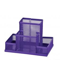 Органайзер настільний металевий 100х150х90 мм, фіолетовий.