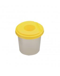 Склянка - непроливайка одинарна, жовта.
