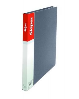 Папка пластикова А5 з притиском, срібляста
