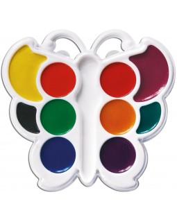 Фарби акварельні медові 10 кольорів, без пензля, пластик «Метелик» ТМ Луч, 10С548-08