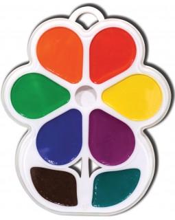 Фарби акварельні медові 8 кольорів, без пензля, пластик «Квіточка» ТМ Луч, 18С1183-08