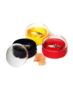 Чинка з контейнером, пластикова, кругла, в асортименті, ТМ KUM
