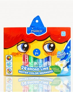 Фломастери 24 кольорів «Super Washable Jumbo» Marco