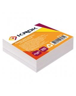 Блок паперу для нотаток клеєний 85 х 85 мм, 300 арк. «Білий» Krok