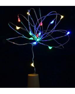 Електрогірлянда LED - нитка, 15 ламп «Согк light for bottle» багатобарвна, 1,60 м.