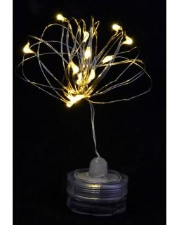 Електрогірлянда LED - нитка «Light for water» водонепроникна, 15 ламп, молочно - біла, 1,60 м