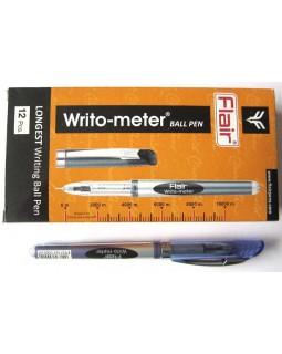 Ручка кулькова, синя, 10 км. «Writometer ball 743» ТМ Flair