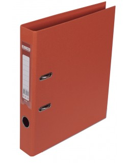 Папка - реєстратор А4 ELITE двостороння, збірна, 50 мм, PP, помаранчева.