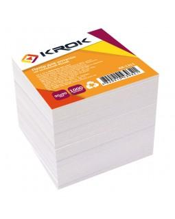 Блок паперу для нотаток 90 х 90 мм,1000 арк. «Білий» Krok