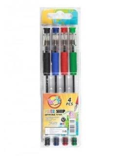 Набір кулькових ручок 4 кольори, ТМ Biefa