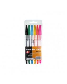 Набір кулькових ручок 6 кольорів, ТМ Biefa