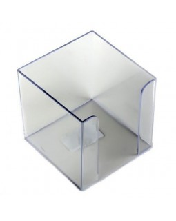 Бокс для паперу 90 х 90 х 90 мм, прозорий, JOBMAX