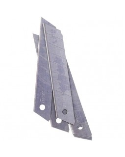 Леза змінні для канцелярських ножів 18 мм., 10 штк. в упаковці