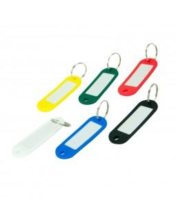 Брелок - ідентифікатор пластиковий для ключів, в асортименті