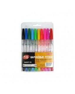 Набір кулькових ручок 10 кольорів, ТМ Biefa