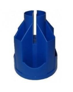 Підставка настільна карусель Economix, обертається на 360°, пластикова, синя, В21