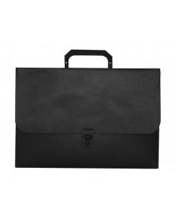 Портфель пластиковий на застібці, JOBMAX, чорний