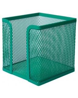 Бокс для паперу, металевий, зелений 100х100х100 мм
