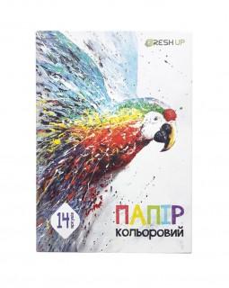 Папір А4 кольоровий «Fresh Up» 7 кольорів, 14 аркушів